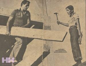 GLORI CONSTRUYENDO EN CAIMITO 1977